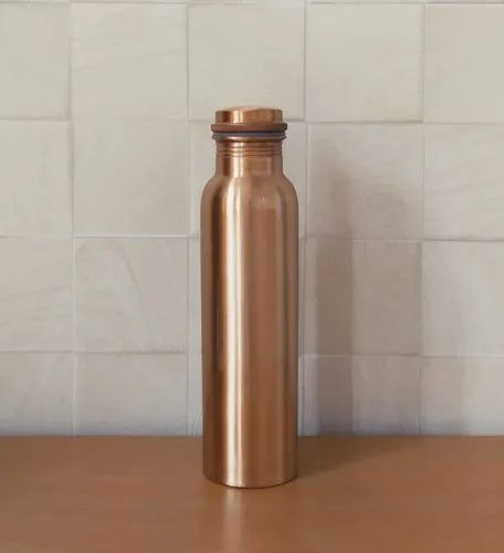 1 L PURE COPPER WATER BOTTLE FLASK COPPER DRINKING CONTAINER QUANTITY 4 PIECE