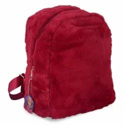 Faux Fur & PU Leather Crya Fur Spur Red Backpack