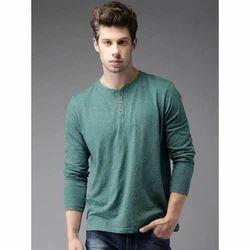 Cotton Medium And Large Mens Plain T-Shirt
