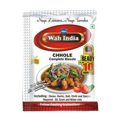 Wah India 25 g Chhole Complete Masala, Packaging: Packet
