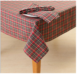 Checks Woven Table Cloth