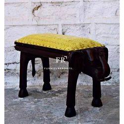 Vintage Indian Furniture - Elephant Designer Footstool