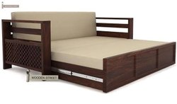 Modern Brown Sofa Cum Bed, Bedroom