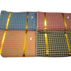 Cotton Desinger Check Kurta Pajama Fabric, Handwash