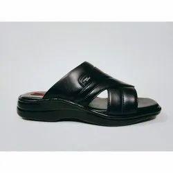 Microfiber Daily Wear Mens Leather Black Formal Slipper, Size: 8-10
