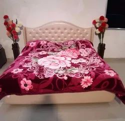 Double Bed Richwool Darkpink Blankets
