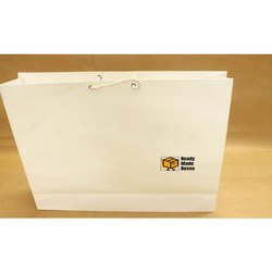 16x12x3 White Paper Bag