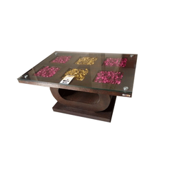Brown Rectangular Wooden Modern Table
