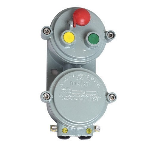 Grey Flameproof Push Button Station  For Industrial