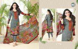 V Neck Essenza Salwar Suit Fabric