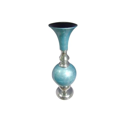 Glossy Metal Vase, For Decoration