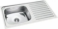 Single Wall Mounted Rectangular Kitchen Sink, Packaging Type: Box