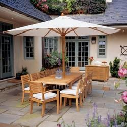 Wooden Garden Umbrella
