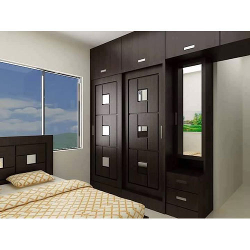 Small Bedroom Cupboard Ideas With Cool Cupboard Designs: Modular Wooden Wardrobe, Warranty: 1 Year, Rs 1000 /square
