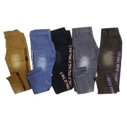 Casual Wear Stretchable Kids Denim Jeans 22*30 side patti, Machine wash