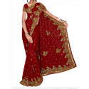 Wedding Wear Embroidered Ladies Designer Saree