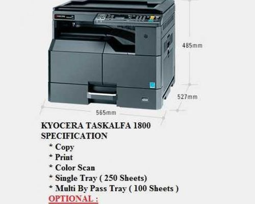 Kyocera 1800 Photocopier with Duplex & ADF
