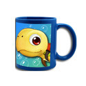 Sublimation Blue Patch Mug