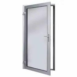 Polished Aluminum Bathroom Door