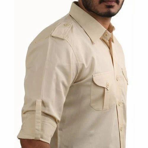 df32340beb370 shirt - Jodhpurs Cream Slim Cotton Mix Hunting Shirt Wholesaler from Jodhpur
