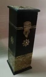 Wooden Box With Metal Fittings, Wooden/Metal Wine Boxes, Wooden/Metal Handicraft Box