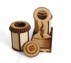 Natural Wood Wooden Masala Box, For Restaurants