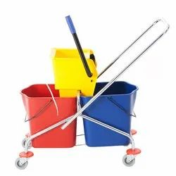 60L SS Frame Double Bucket Trolley