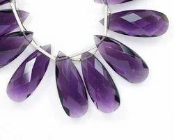Purple Amethyst Quartz Pear Beads