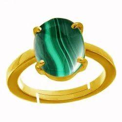 Malachite Stone Ring Asthdhatu Gemstone