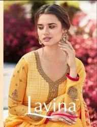 Embroidery Work Unstitch Salwar Suit Lavina Vol 90 Fancy Fabric