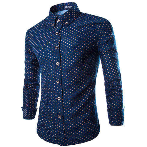 Mens Cotton Dotted Shirt, Size: M - XXL