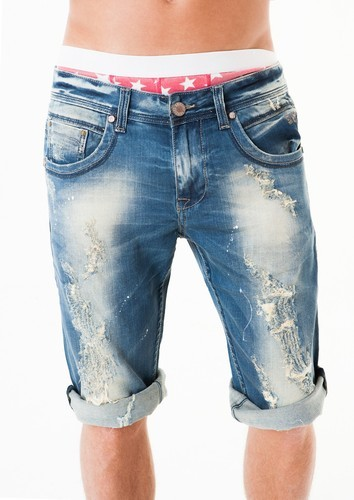 Knee Length Casual Mens Denim Stretchable Shorts Rs 350 Piece Id