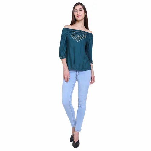 1b467a7e382 Sky Blue Ladies Denim Jeans