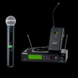 Black Modern Shure SLX Microphone
