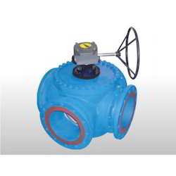 Gear Operated 4 Way Ball Valve