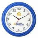 Blue, Black And Brown Round Plastic Wall Clock, For Promotional Gift