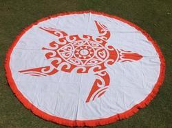 Round Mandala Beach Towels