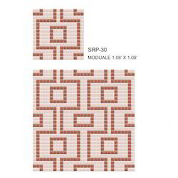 Repeated Pattern Glass Mosaic Tiles