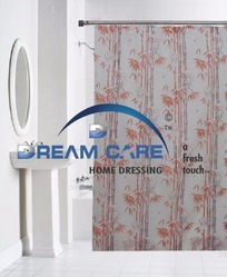 Printed PVC Waterproof Shower Curtain, Size: 54