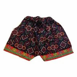 Embroidered Casual Wear Girls Cotton Jaipuri Shorts, Age Group: 1-12 Years