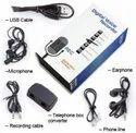 1 Black Digital Voice Recorder, Memory Size: 8gb
