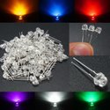 LED 10mm Clear and Diffused Red / Green / Parrot Green / Yellow / Blue / Amber / Orange / White