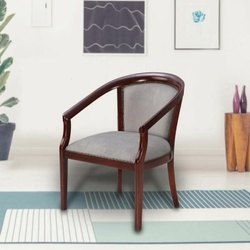 Brown Standard Rajtai Wooden Chair with Cushion Seat