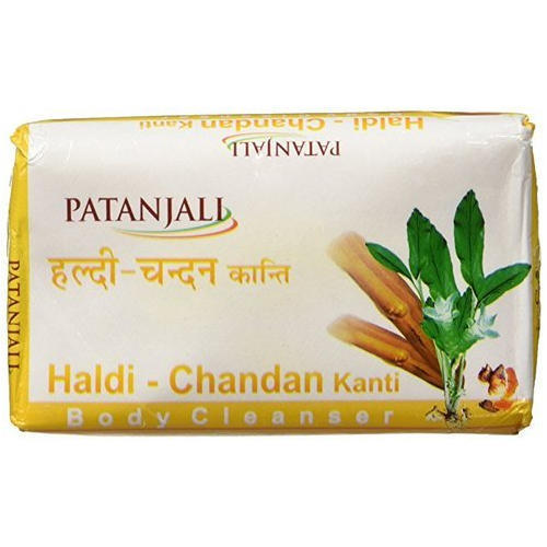 Patanjali Haldi Chandan Kanti Body Cleanser Pack Of 3 bathing Soap 150 Gm