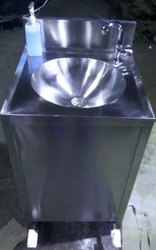 PEDAL OPERATED WASH BASIN (round sink pattern)