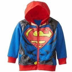 Shahvaan Traders Casual Wear Kids Fancy Printed Jacket, Full Sleeves, Packaging Type: Packet