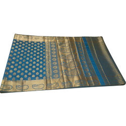 Party Wear Silk Saree, With Blouse Piece