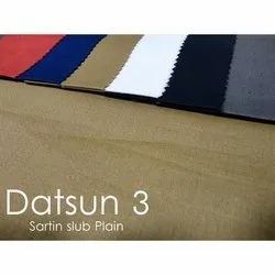 Plain Satin Slub Shirting Fabric