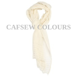 White Crinkled Designer Scarves