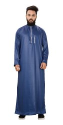 Blue Color Premium Imported Quality Polyester Kurtas Jubba Thobe For Men